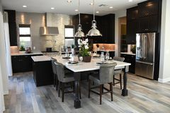 New Modern Kitchen Classic Home In Arizona royalty free stock photography