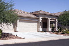 New Modern Desert Home Royalty Free Stock Photography