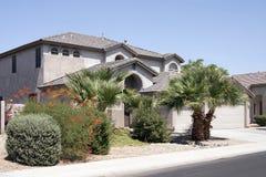 New Modern Desert Home. With large three car garage near Phoenix, Arizona, USA royalty free stock image