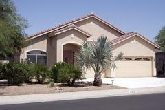 New Modern Desert Home. With large three car garage near Phoenix, Arizona, USA royalty free stock photography