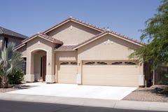 New Modern Desert Home. With large three car garage near Phoenix, Arizona, USA stock photos