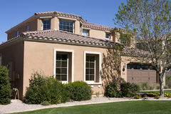 New Modern Desert Home. Near Phoenix, Arizona, USA stock photography