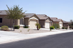 New Modern Desert Homes Neighborhood Stock Image