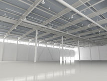 New Modern Empty Storehouse Stock Photo