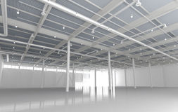 New Modern Empty Storehouse Royalty Free Stock Photography