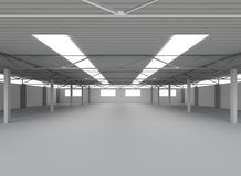 New Modern Empty Storehouse Royalty Free Stock Images
