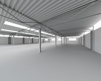 New Modern Empty Storehouse Stock Images
