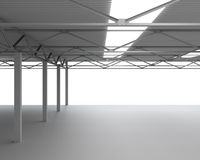 New Modern Empty Storehouse Royalty Free Stock Image
