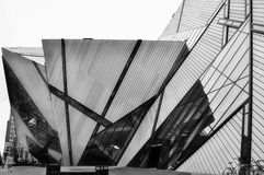 New modern entry to Royal Ontario Museum in Toronto. Royalty Free Stock Photo