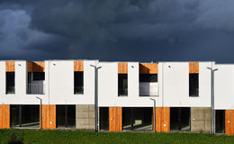 New modern family houses in a row Stock Photography
