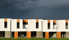 New modern family houses in a row Royalty Free Stock Photos