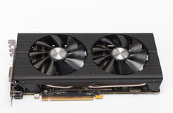 New modern gaming graphics card on white Stock Photography