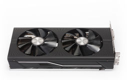 New modern gaming graphics card on white Royalty Free Stock Image