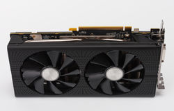 New modern gaming graphics card on white Royalty Free Stock Images