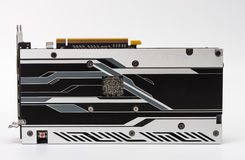 New modern gaming graphics card on white Royalty Free Stock Photo