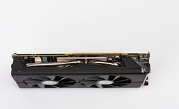 New modern gaming graphics card on white Royalty Free Stock Photography
