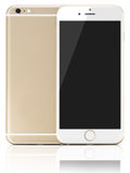 New modern Gold Smartphone Royalty Free Stock Image