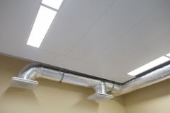 New modern heat ceiling system stock photography