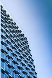 New modern high-rise steel and glass office building Stock Image