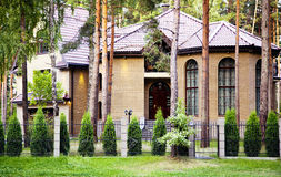 New modern home architecture. Newly built in Latvia Stock Image