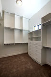 New Modern Home Guest Closet. Brand new modern model home spacious guest closet royalty free stock photos
