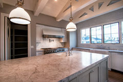 New Modern Home Large Kitchen Royalty Free Stock Photo