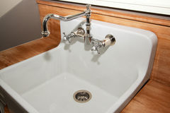 New Modern Home Laundry Room Sink Stock Photo