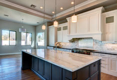 New Modern Home Mansion Kitchen Royalty Free Stock Photo