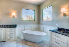 New Modern Home Mansion Master Bath Stock Photography