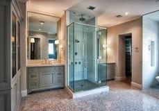 New Modern Home Master Bath Room Stock Photography