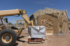 New modern home under construction Stock Image