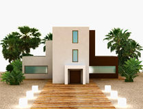 New Modern House Exterior Royalty Free Stock Photo