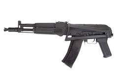 A new modern Kalashnikov assault rifle on white Royalty Free Stock Photos