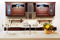 New modern kitchen stock photos