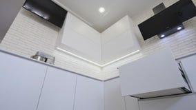 New modern kitchen interior stock video footage