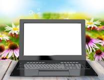 New modern laptop Royalty Free Stock Photo