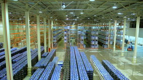 New modern large warehouse stock video footage