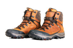 New modern leather boots royalty free stock photo