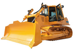 New modern loader or bulldozer - excavator isolated with clippin Royalty Free Stock Photography