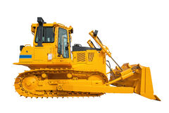 New modern loader or bulldozer - excavator isolated on white bac Royalty Free Stock Photos