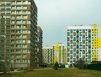 New modern low rise apartment complex. Moscow, Russia Royalty Free Stock Photography