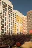 New modern low rise apartment complex. Moscow, Russia. Modern low rise apartment complex stock image