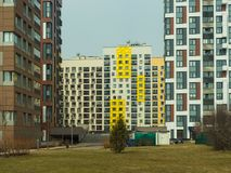 New modern low rise apartment complex. Moscow, Russia Stock Images