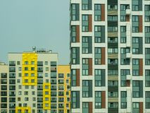 New modern low rise apartment complex. Moscow, Russia Stock Photography