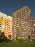 New modern low rise apartment complex. Moscow, Russia stock photo