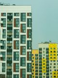 New modern low rise apartment complex. Moscow, Russia Stock Photos