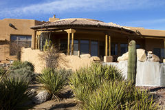 New modern luxury desert home. Beautiful New modern luxury desert home in central Arizona golf course Stock Photography