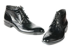 New modern male shoes Royalty Free Stock Photos