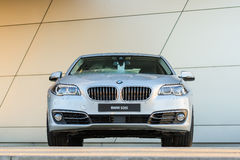 New modern model of BMW 535i business class sedan Royalty Free Stock Photo