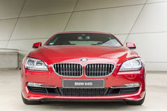 New modern model of BMW 640i exclusive business sedan Stock Photography
